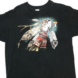 Vintage Native American T Shirt Single Stitch RENO